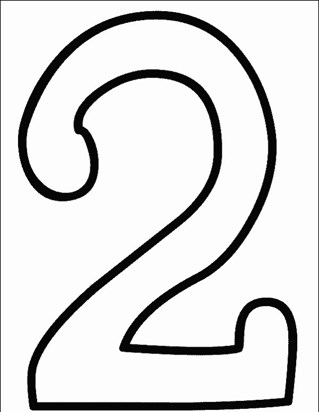 numbers 2 coloring page