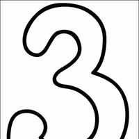 numbers 3 coloring page