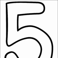 numbers 5 coloring page