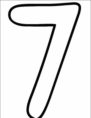 numbers 7 coloring page