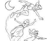 peter pan flying coloring page