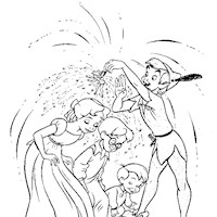 peter pan pixie dust coloring page