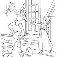 peter pan window coloring page