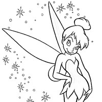 tinkerbell standing coloring page
