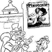 pinocchio animals coloring page