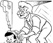 pinocchio boy coloring page