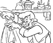 pinocchio gepetto coloring page