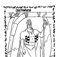 chief powhatan coloring page