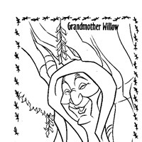 grandmother willow coloring page