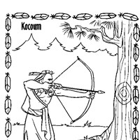 kocoum coloring page