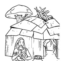 pocahontas crafts coloring page