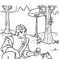 pocahontas with captain smith coloring page