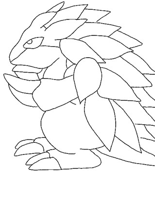 pokemon 16a coloring page