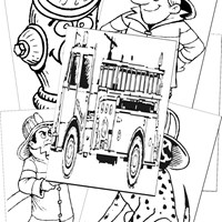 Police and Fire Fighters Coloring Pages