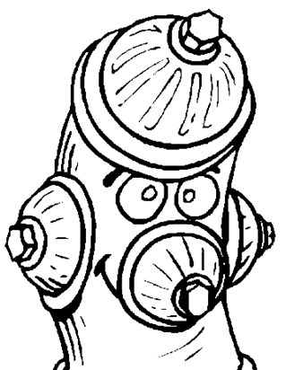 fire hydrant coloring page