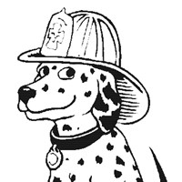 fireman dalmation coloring page