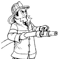 fireman hose coloring page