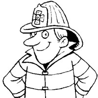 fireman coloring page