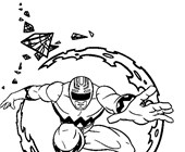 power rangers 1a coloring page
