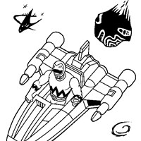 power rangers 4a coloring page