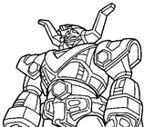 power rangers 5a coloring page