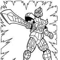 power rangers 6a coloring page