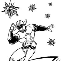 power rangers 7a coloring page
