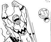 power rangers 8a coloring page