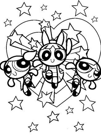 Powerpuff Girls coloring page | Free Printable Coloring Pages | 440x327
