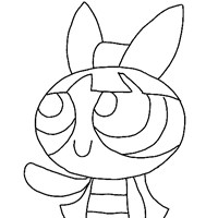 power puff girls blossom coloring page