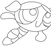 power puff girls bubbles coloring page