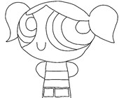 power puff girls coloring page