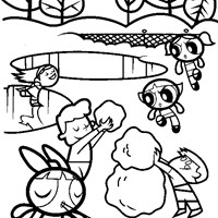 power puff girls winter coloring page