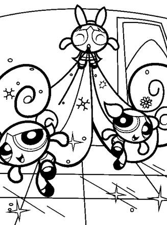 PowerPuff Girls Coloring Page - powerpuff girls | All Kids ...