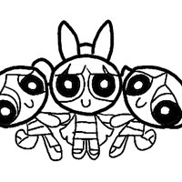 powerpuffgirls coloring page