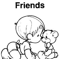 friends precious moments coloring page
