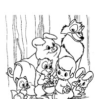 precious moments animals coloring page