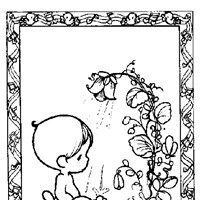 precious moments boy in water coloring page