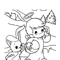 precious moments bunny coloring page