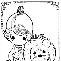 precious moments lamb coloring page