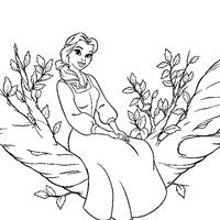 coloring princess beauty beast belle 1 coloring page
