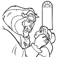 coloring princess beauty beast belle 3 coloring page