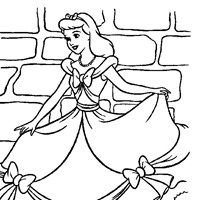 coloring princess cinderella 1 coloring page