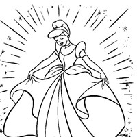 coloring princess cinderella 3 coloring page