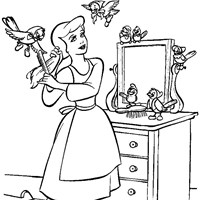 coloring princess cinderella 5 coloring page