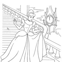 coloring princess cinderella coloring page