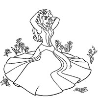 coloring princess sleeping beauty aurora 1 coloring page