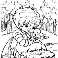 rainbow brite coloring page coloring page