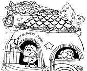 rainbow brite dome sweet dome coloring page