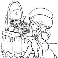 rainbow brite makeup coloring page